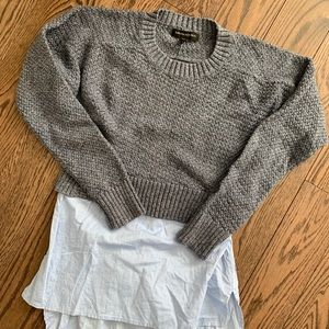 Banana Republic Twofer Style Sweater and Blouse 🥐